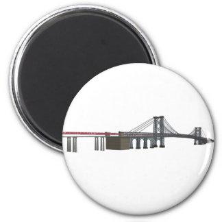 Williamsburg Bridge 3D Model Fridge Magnets