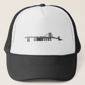 Williamsburg Bridge: 3D Model: Trucker Hat