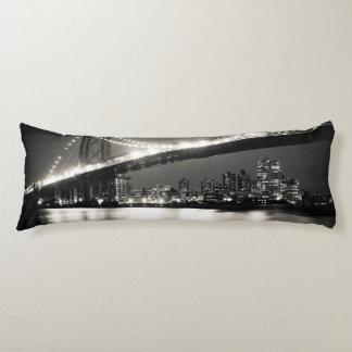 Williamsburg bridge in New York City at night Body Cushion
