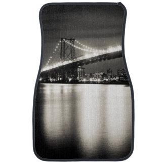 Williamsburg bridge in New York City at night Car Mat