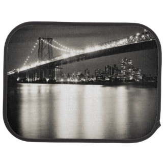 Williamsburg bridge in New York City at night Car Mat