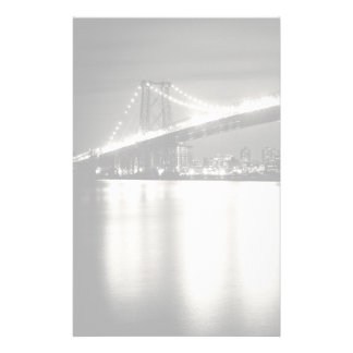 Williamsburg bridge in New York City at night Customised Stationery