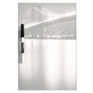 Williamsburg bridge in New York City at night Dry Erase Board