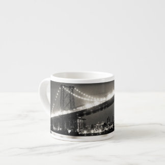 Williamsburg bridge in New York City at night Espresso Cup