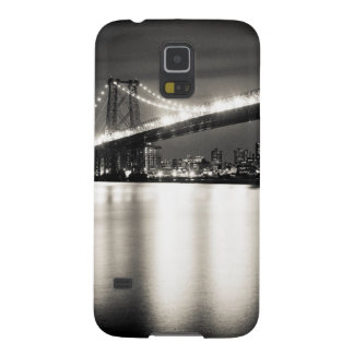 Williamsburg bridge in New York City at night Galaxy S5 Cases