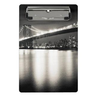 Williamsburg bridge in New York City at night Mini Clipboard