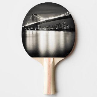 Williamsburg bridge in New York City at night Ping Pong Paddle