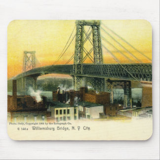 Williamsburg Bridge, New York City, 1905 Vintage Mouse Mat