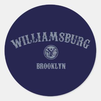 Williamsburg Round Stickers