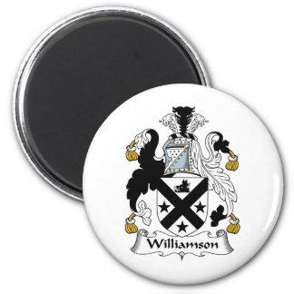 Williamson Family Crest 6 Cm Round Magnet