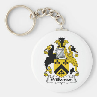 Williamson Family Crest Basic Round Button Key Ring