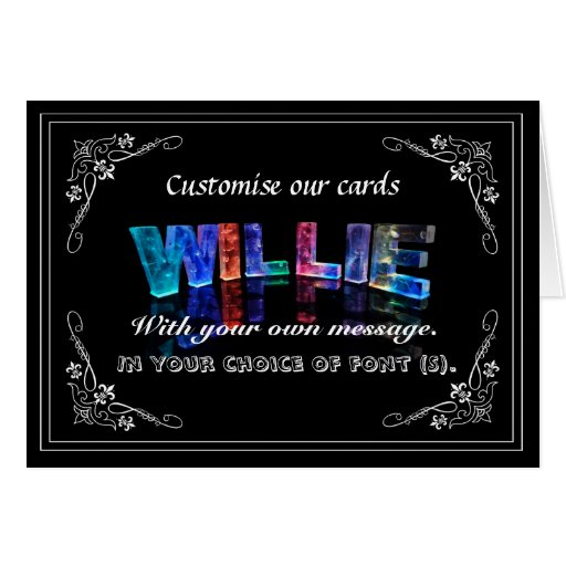 Willie -  Name in Lights greeting card (Photo)