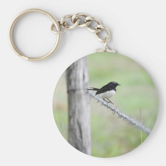 WILLIE WAGTAIL QUEENSLAND AUSTRALIA KEY RING