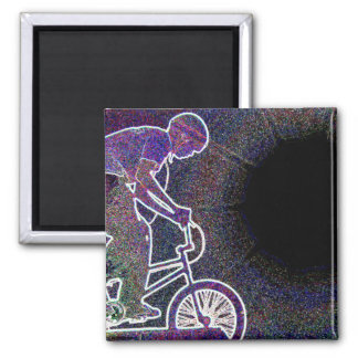 WillieBMX The Glowing Edge Square Magnet