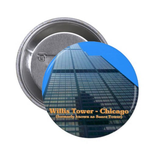Willis Tower - Formerly Known As The Sears Tower 6 Cm Round Badge
