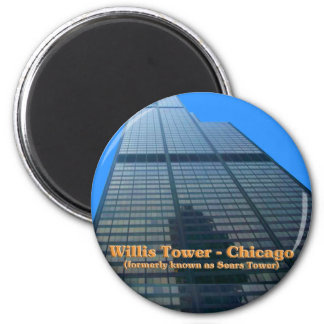 Willis Tower - Formerly Known As The Sears Tower 6 Cm Round Magnet