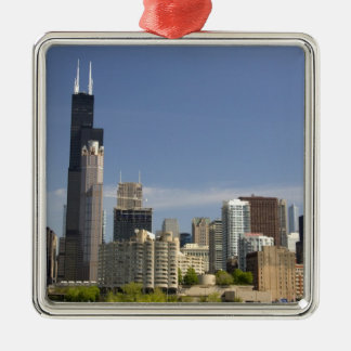 Willis Tower formerly known as the Sears Tower Silver-Colored Square Decoration