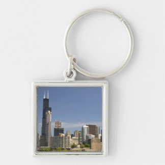 Willis Tower formerly known as the Sears Tower Silver-Colored Square Key Ring