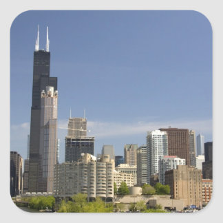 Willis Tower formerly known as the Sears Tower Square Sticker