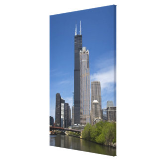 Willis Tower previously the Sears Tower looms Canvas Print