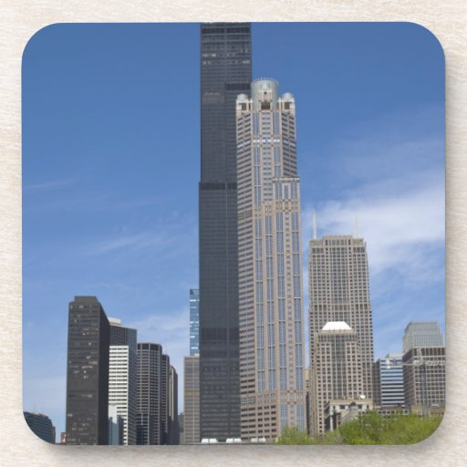 Willis Tower (previously the Sears Tower) looms Beverage Coasters