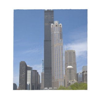 Willis Tower (previously the Sears Tower) looms Memo Note Pad