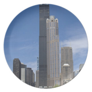 Willis Tower (previously the Sears Tower) looms Plate
