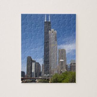 Willis Tower (previously the Sears Tower) looms Puzzles