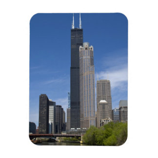 Willis Tower (previously the Sears Tower) looms Rectangular Photo Magnet