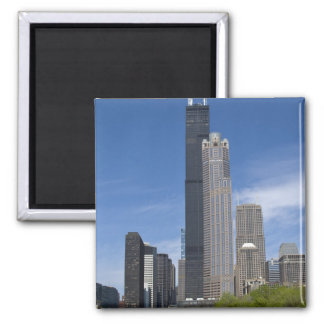 Willis Tower (previously the Sears Tower) looms Square Magnet