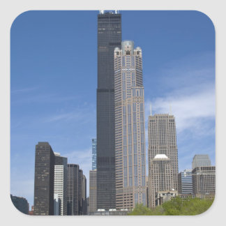 Willis Tower (previously the Sears Tower) looms Sticker