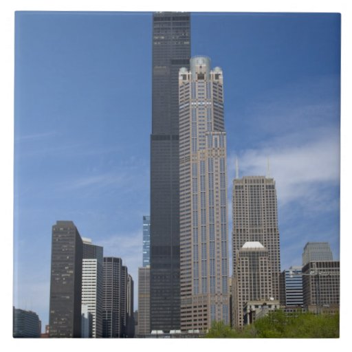 Willis Tower (previously the Sears Tower) looms Ceramic Tile