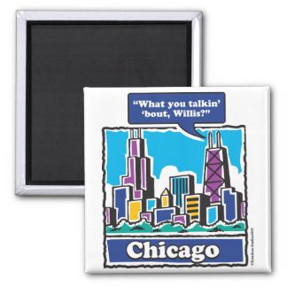 Willis Tower/Sears Tower Square Magnet