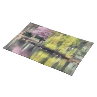 Willow and Cherry by Lake Place Mats