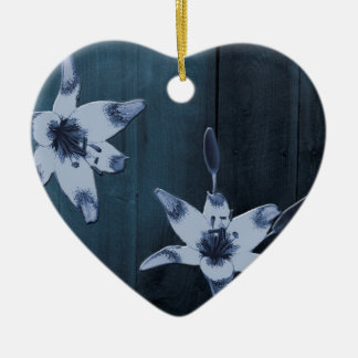 Willow Blue Flower Christmas Ornament