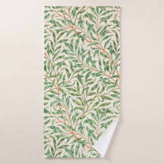 Willow Bough by William Morris Bath Towel