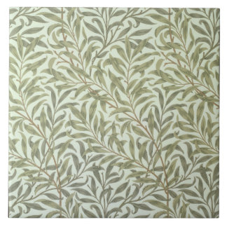 'Willow Bough' wallpaper design, 1887 Large Square Tile