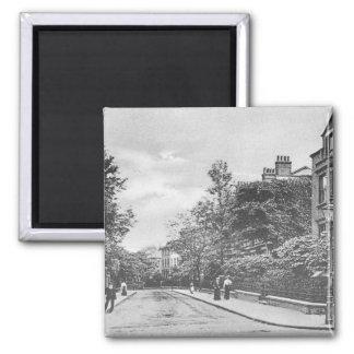 Willow Bridge Road, Canonbury, Islington, c.1905 Square Magnet