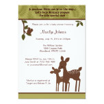 Willow Deer Baby Shower Invitation forest woodland 13 Cm X 18 Cm Invitation Card