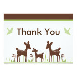 Willow Deer Baby Shower Thank You Card 13 Cm X 18 Cm Invitation Card