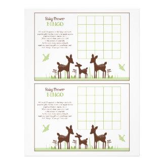 """Willow Deer Family """"Baby Shower Bingo"""" sheet 21.5 Cm X 28 Cm Flyer"""