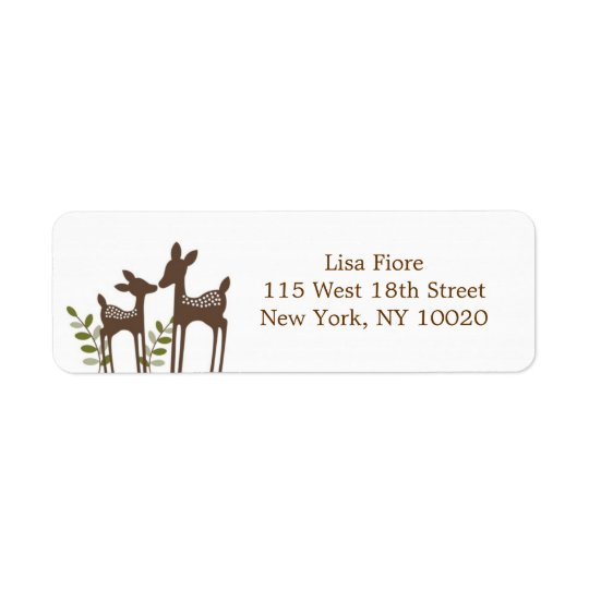 Willow Deer Forest Baby Shower Address Labels