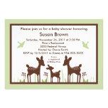 Willow Deer Green Baby Shower Invitation