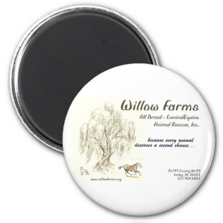 Willow Farms Round Magnet