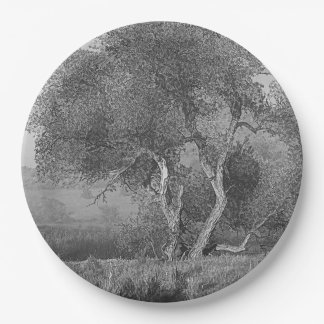 WILLOW IN MIST 9 INCH PAPER PLATE