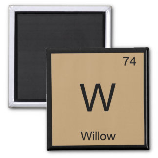 Willow Name Chemistry Element Periodic Table Magnet