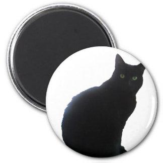 Willow the Black Cat 6 Cm Round Magnet
