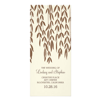 Willow Tree Branches Elegant Wedding Programs Rack Card Design