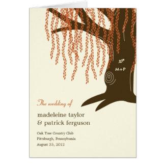 Willow Tree Fall Wedding Program Card
