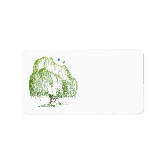 Willow Tree Wedding Blank Address Labels